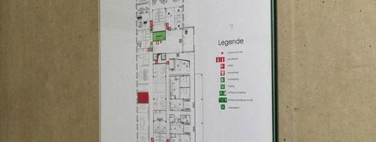 evacuatieplan winkel Kortrijk