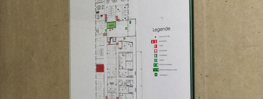 evacuatieplan in Sint-Niklaas